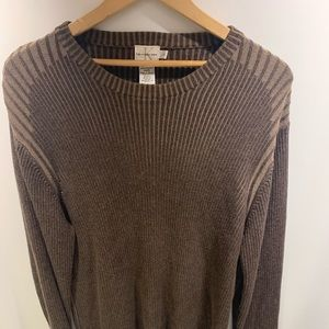 Mens Calvin Klein Large 100% Cotton Ribbed Sweater